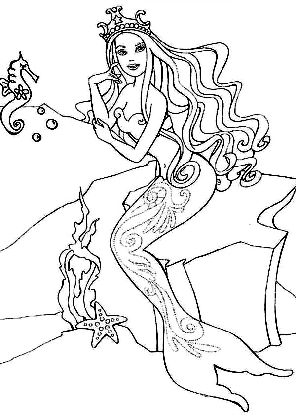 Barbie horse coloring page coloring home for Princess and horse coloring pages