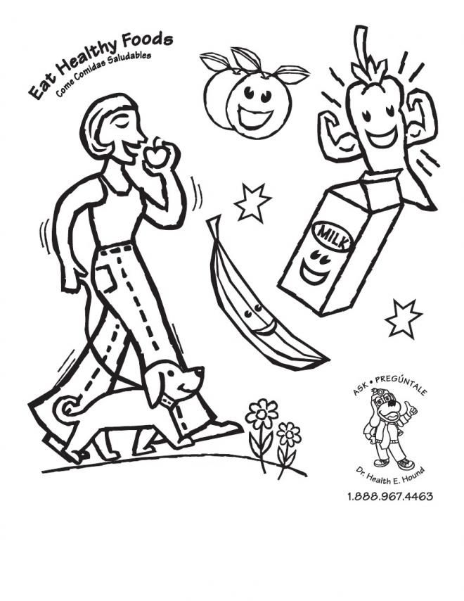 best photos of a healthy me coloring pages healthy food coloring