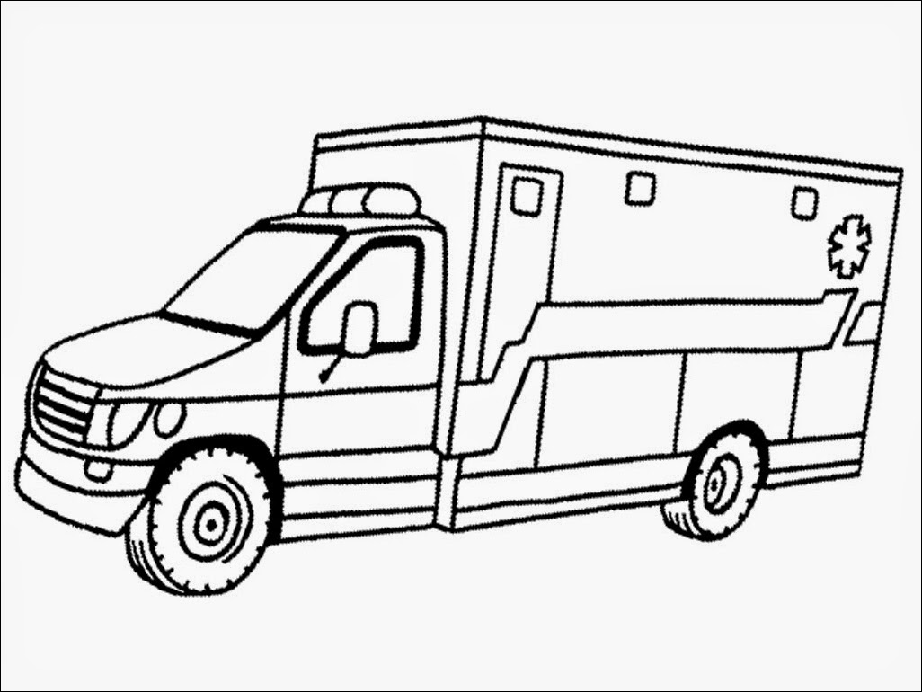 Ambulance Coloring Page - Coloring Home