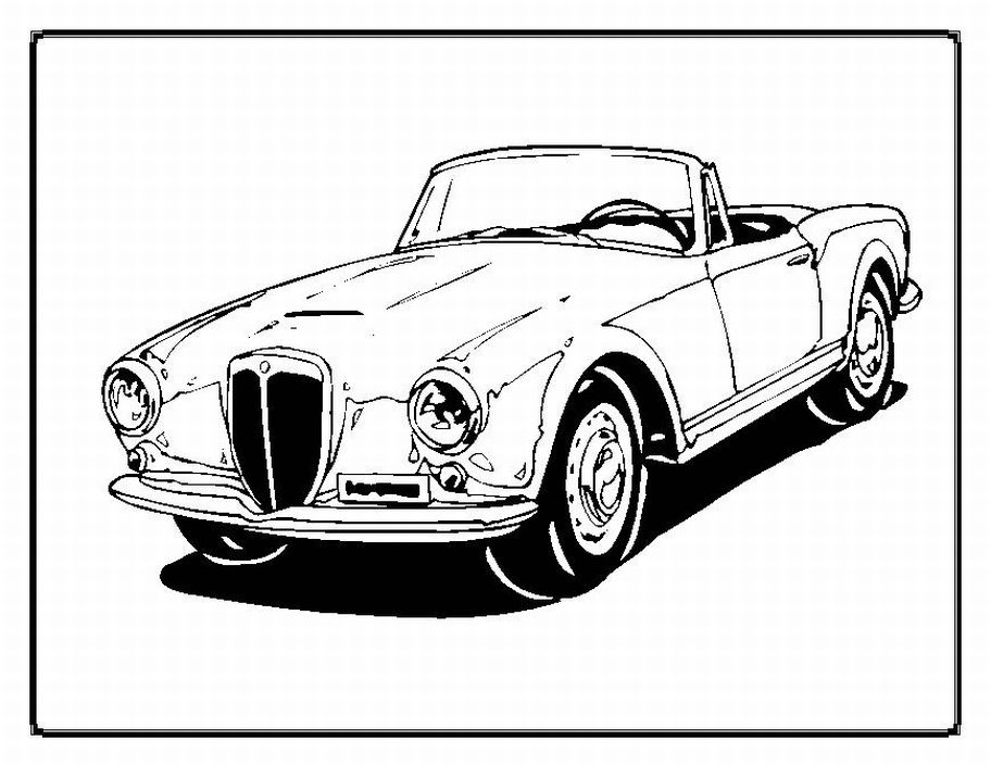 Muscle Cars Coloring Pages Free
