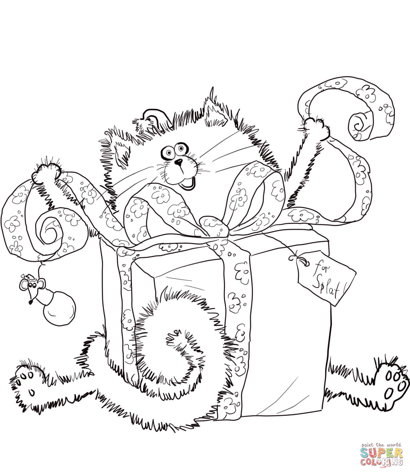 Splat The Cat Coloring Page