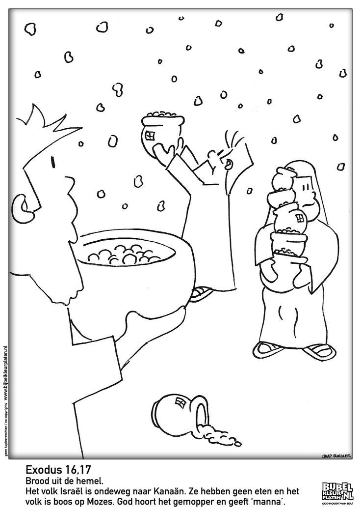Coloring Pages For Children Manna, Quail And Water ...