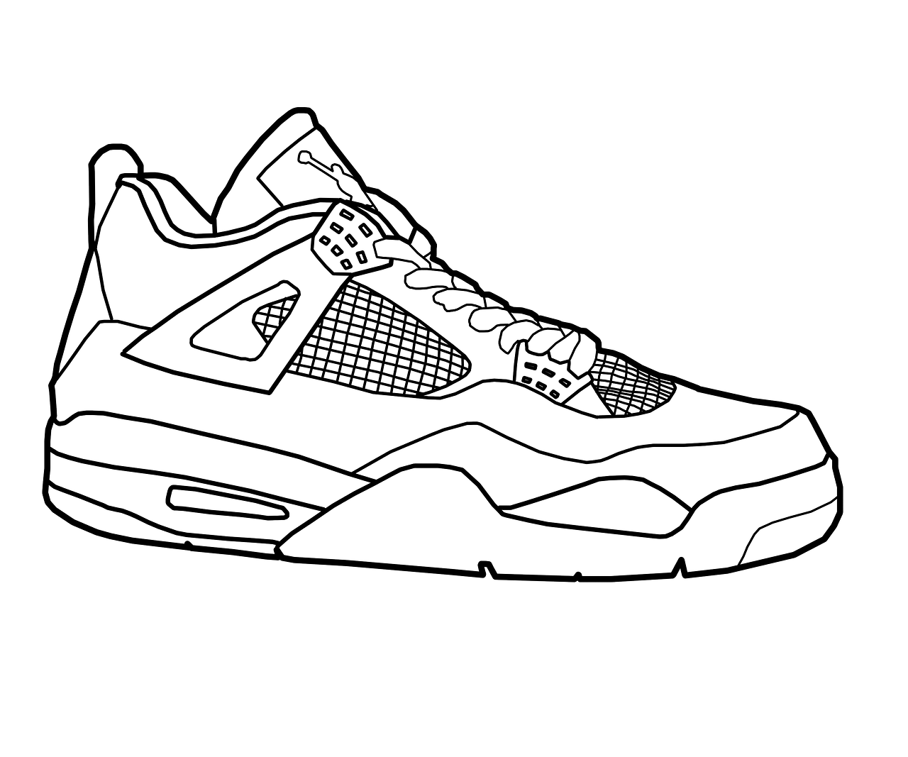 15 Pics of Drawing Jordans Shoes Coloring Pages - Jordan Retro 5 ...
