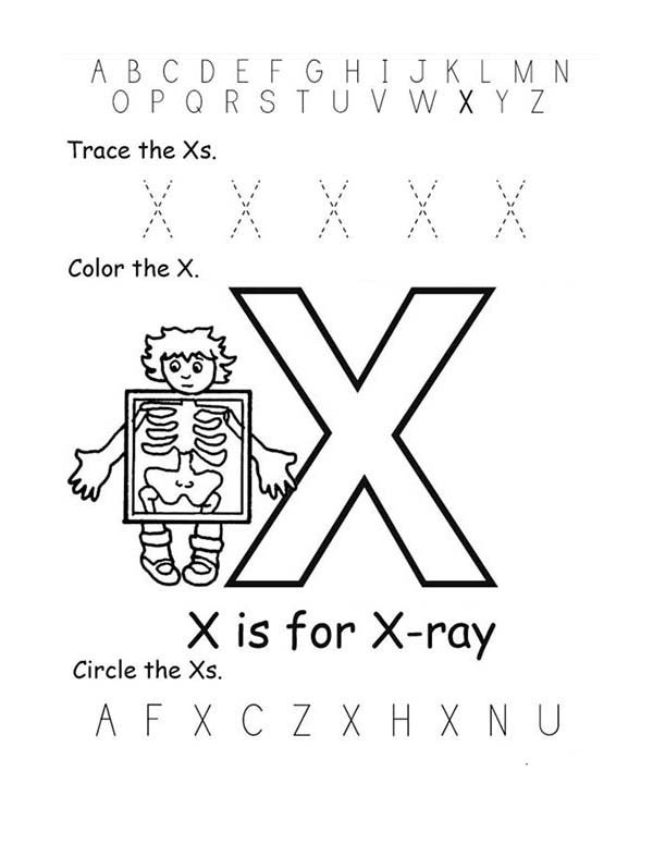 X Ray Coloring Pages For Kids