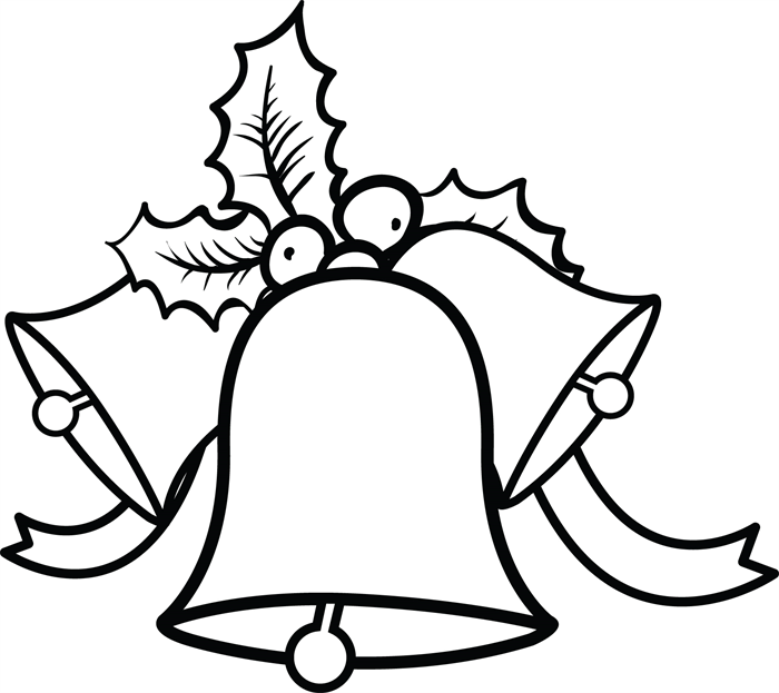Christmas Bell Template Coloring Home Free Coloring Pages Bells
