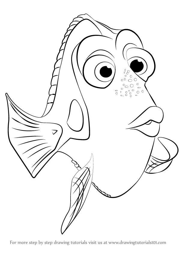 Finding Dory Coloring Page Coloring Home