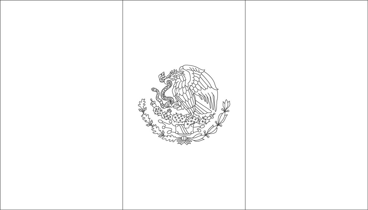 mexican coat of arms coloring page coloring home