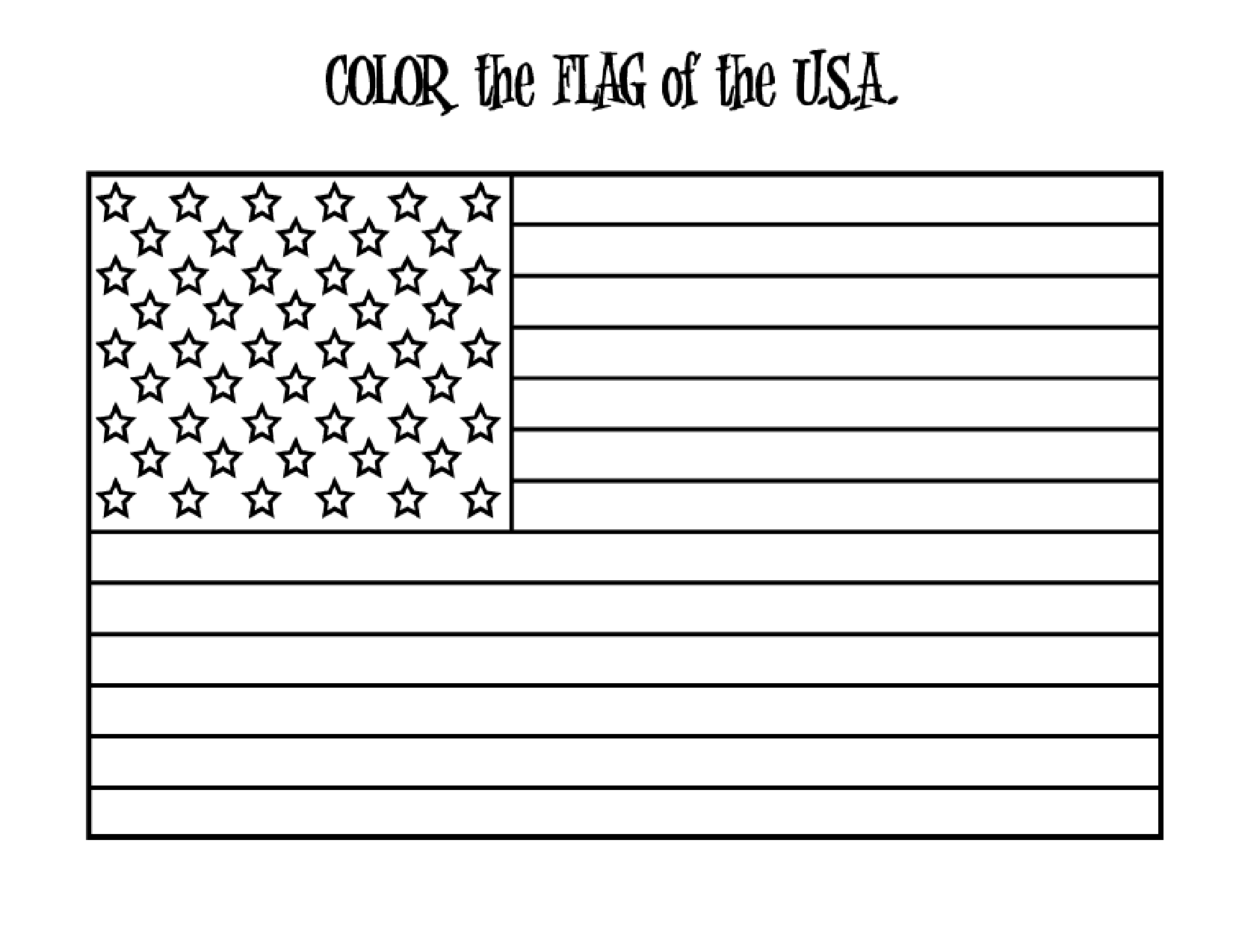Original american flag coloring page coloring home for American flag coloring page for first grade