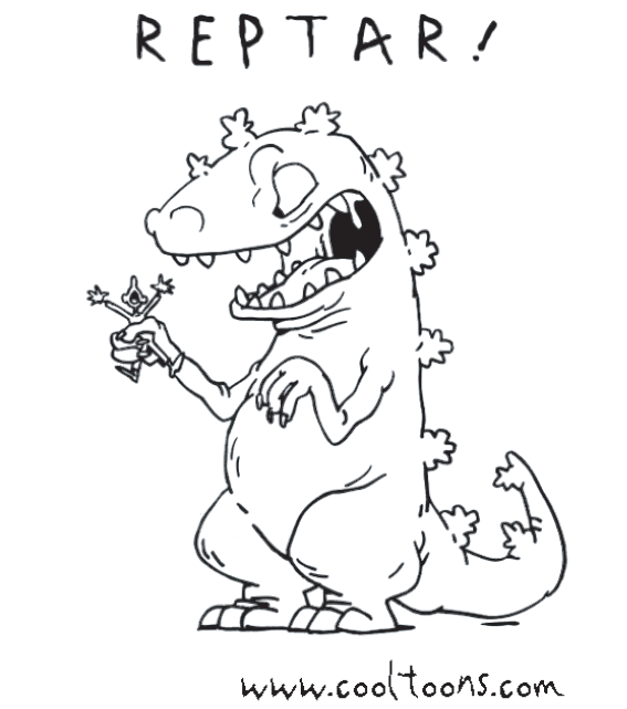 Reptar Coloring Page