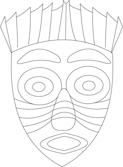 African tribal coloring pages ~ African Mask Coloring Pages - Coloring Home