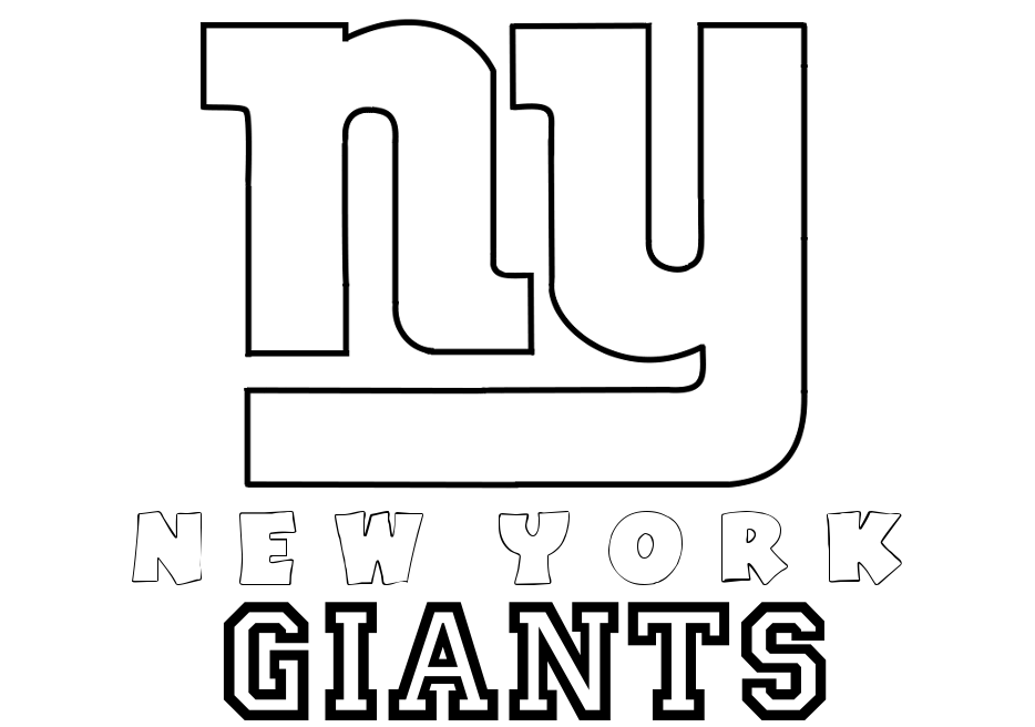 ny giants coloring pages - photo#3