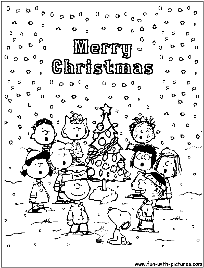 charlie brown chirstmas coloring pages - photo#15
