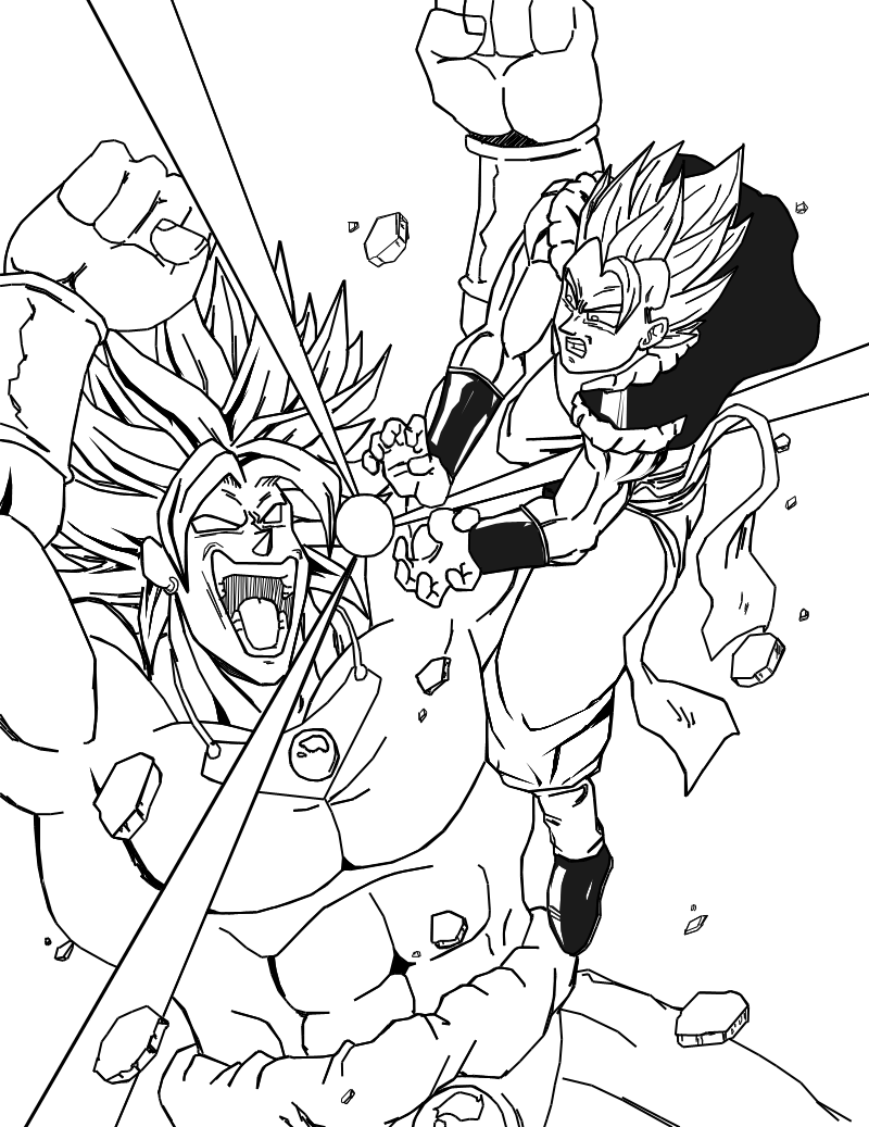 Dbz Gogeta Coloring Pages Coloring Home