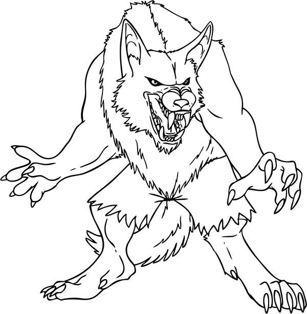 werewolf coloring pages - photo#14