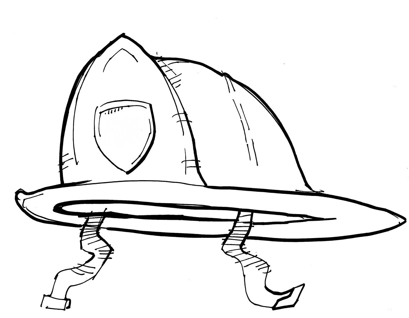 coloring book pages fireman hat - photo#6