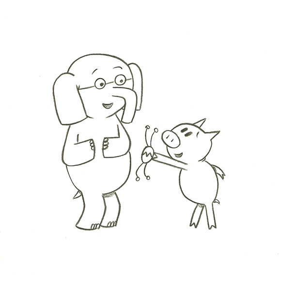 piggy and elephant coloring pages - photo#7