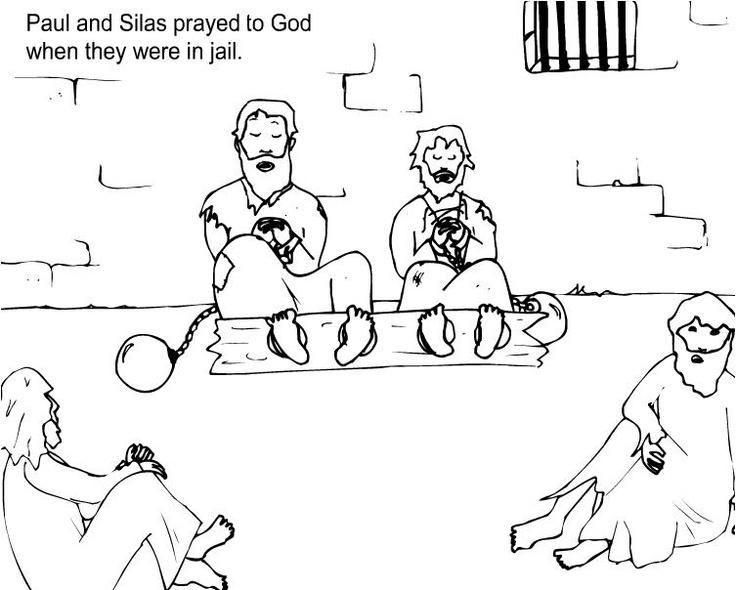 Paul And Silas Coloring Page Az Coloring Pages Paul And Silas Coloring Page
