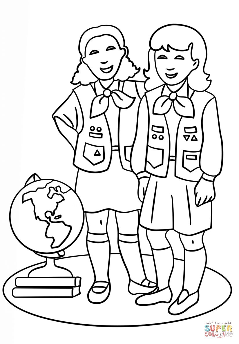 Brownie Girls Scout coloring page | Free Printable Coloring Pages