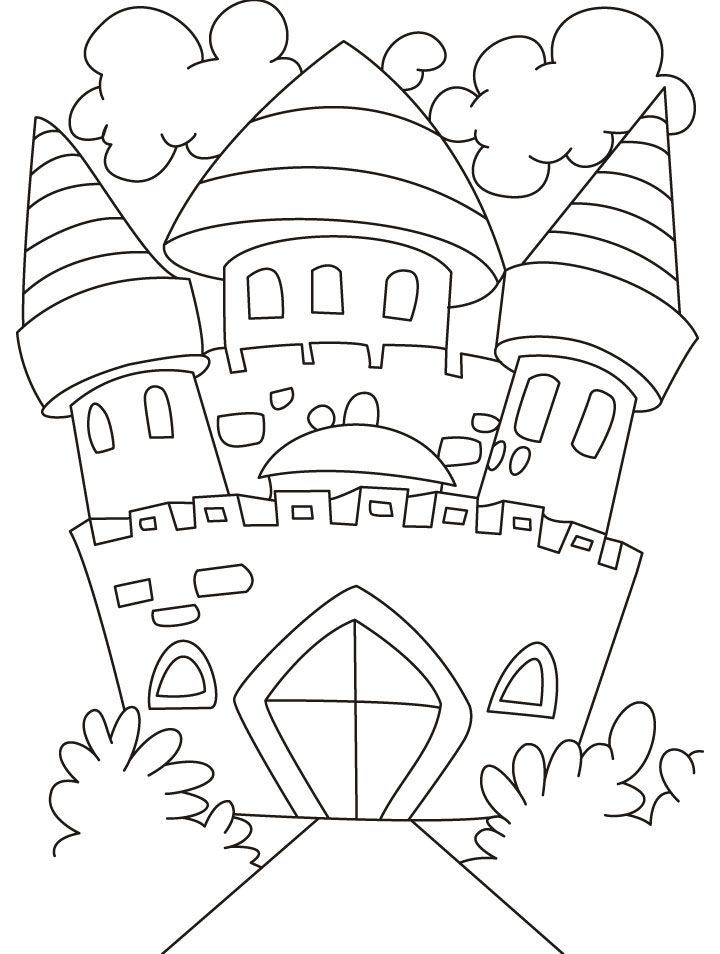 Free Coloring Pages Castle AZ Coloring Pages