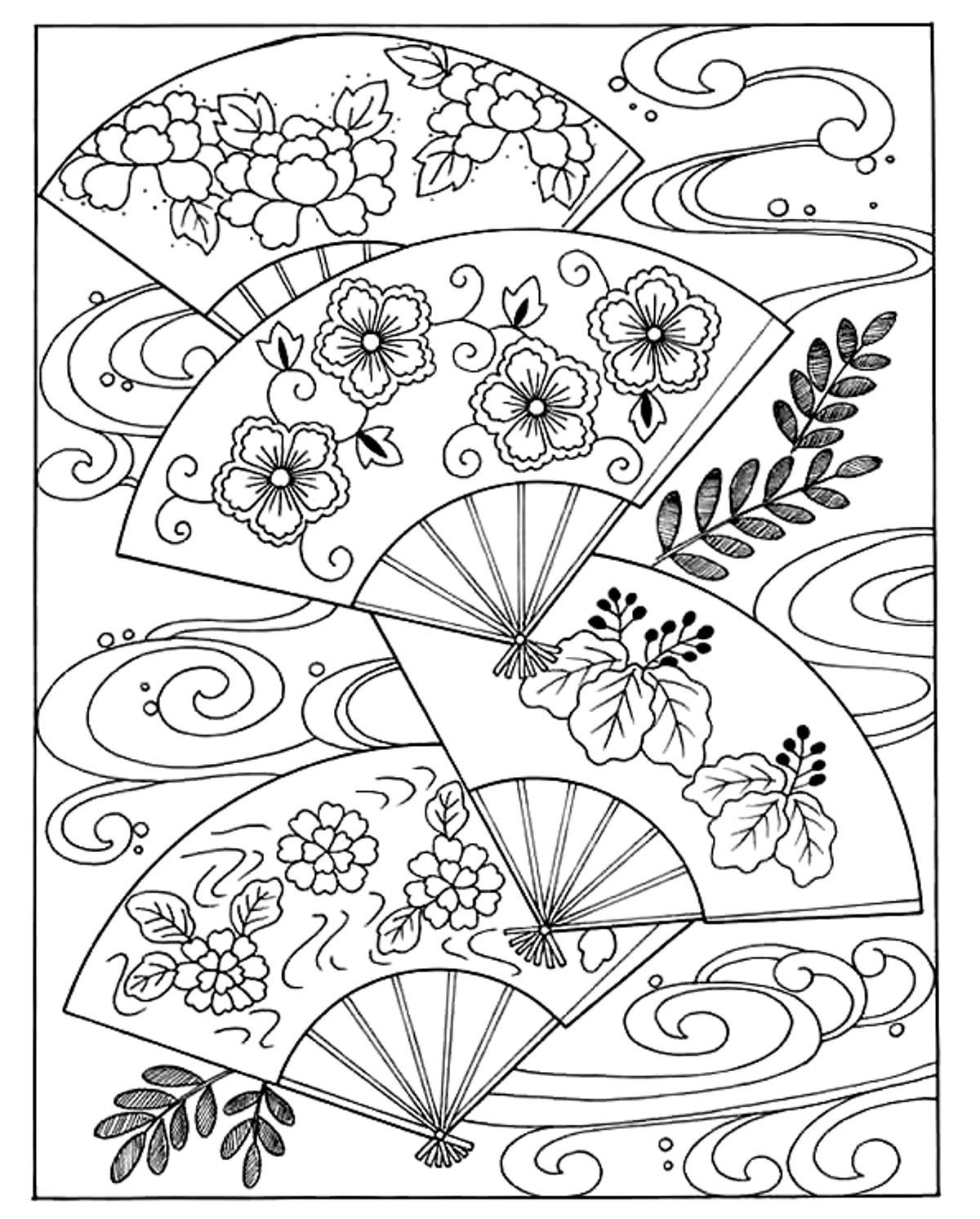Free printable japanese coloring pages for adults - Japanese Koi Coloring Pages Free Printable Japanese Coloring Pages