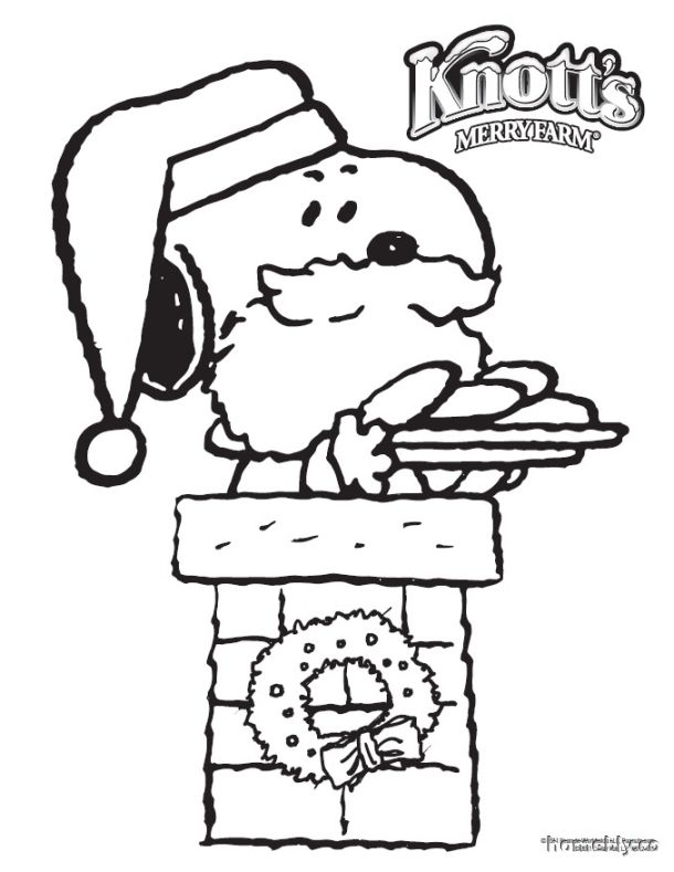snoopy christmas coloring pages | Best DIY Coloring Pages