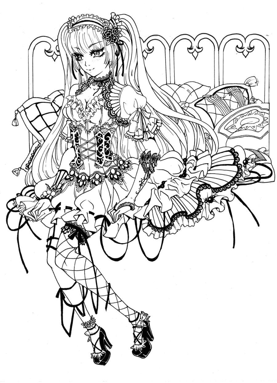 7 Pics Of Gothic Fairy Coloring Pages Printable - Gothic ...