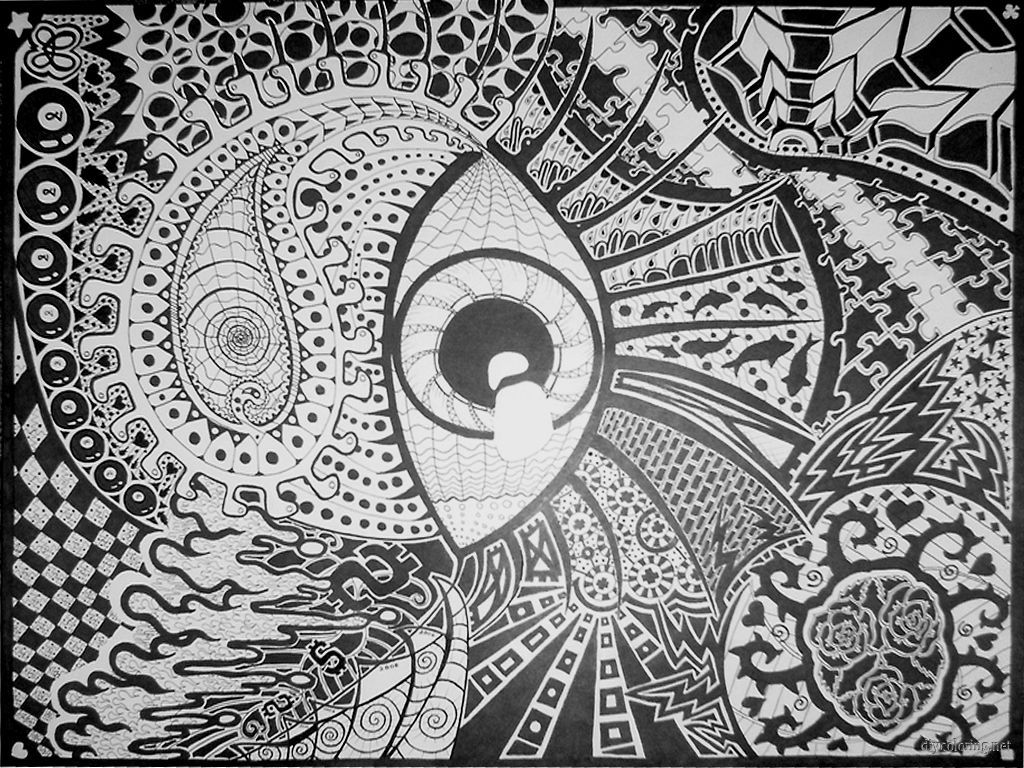 free trippy coloring pages - photo#30