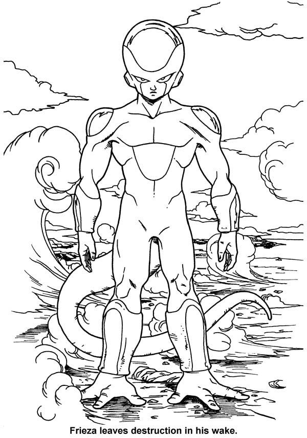 dbz coloring pages frieza - photo#9