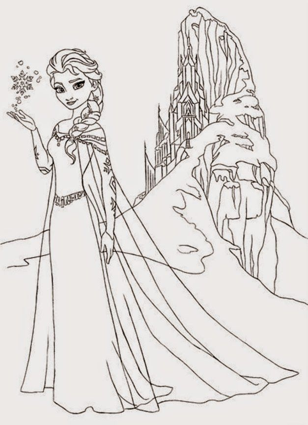 Fairy Tale Castle Coloring Page