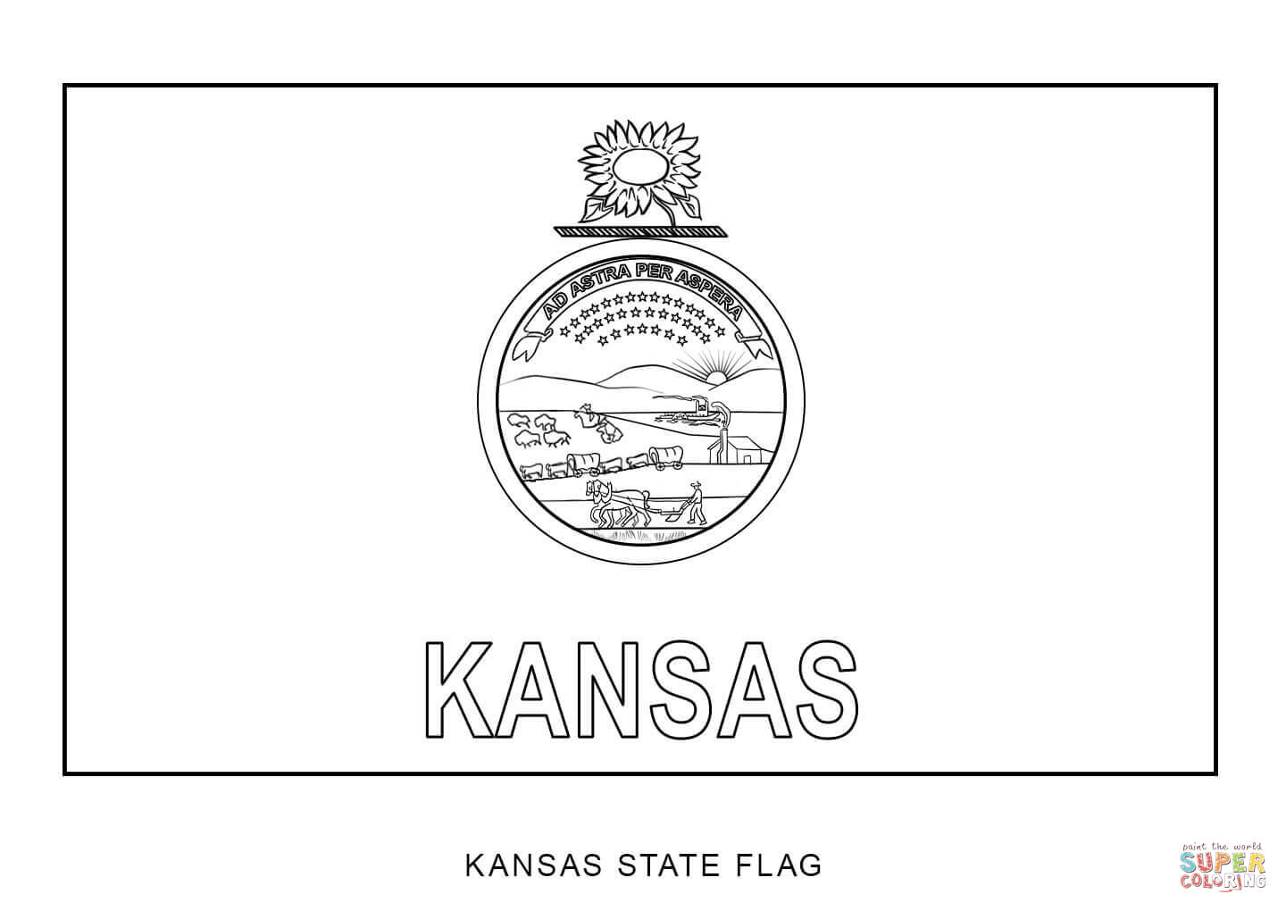 kansas flages coloring pages coloring home