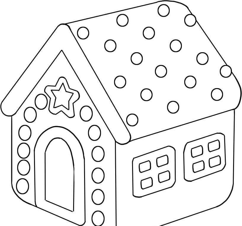 gingerbread house coloring pages for kids to learn color mp head
