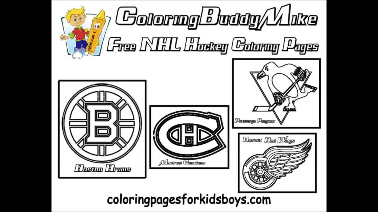 Coloringbuddymike Nhl Hockey Coloring Pages Youtube Coloring Home