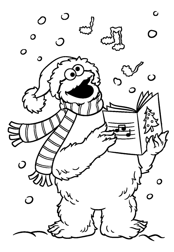 sesame street christmas coloring pages   Sesame Street Christmas Coloring Pages - Coloring Home