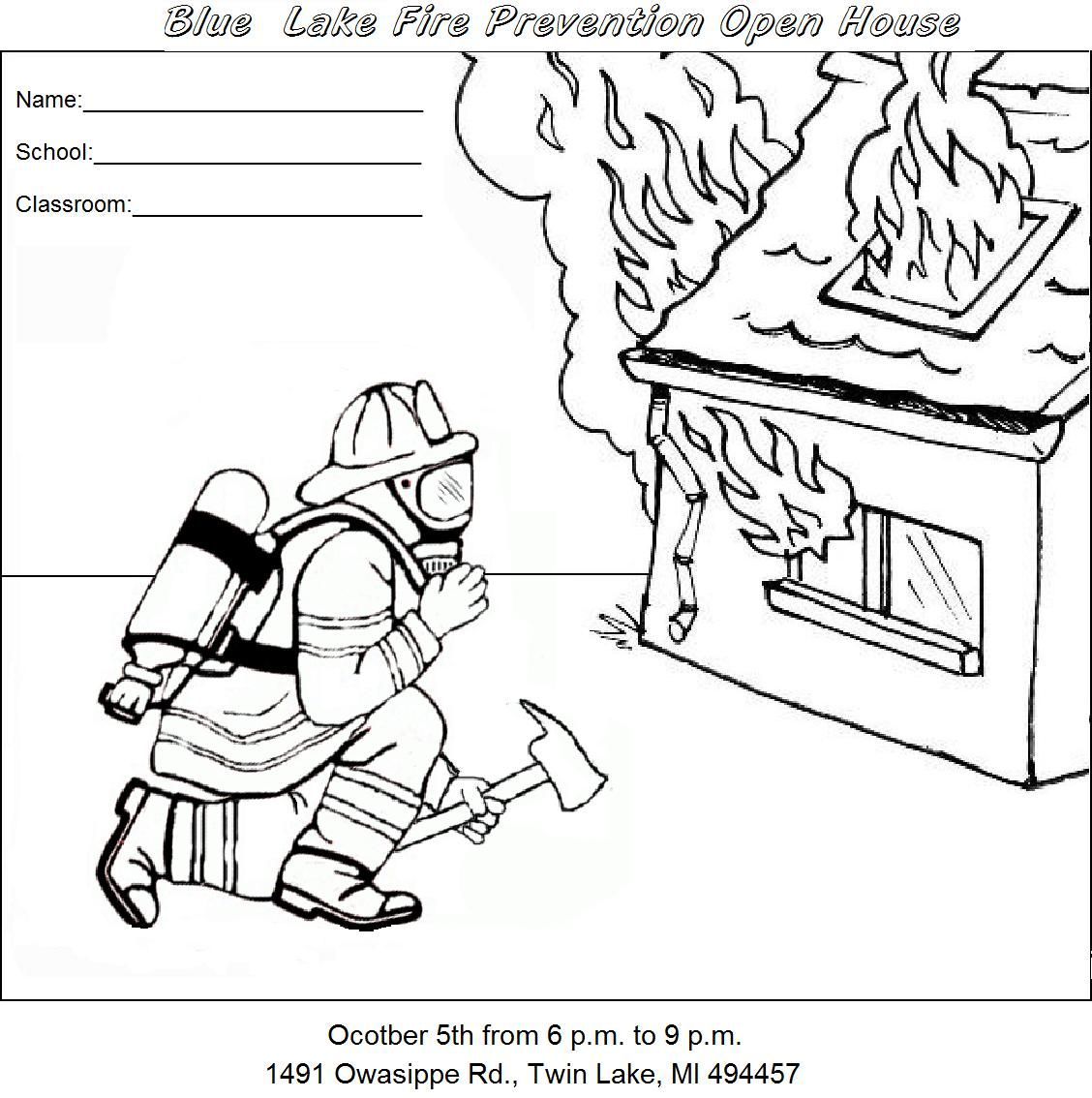 Fire Safety For Kids - Coloring Pages For Kids And For ...