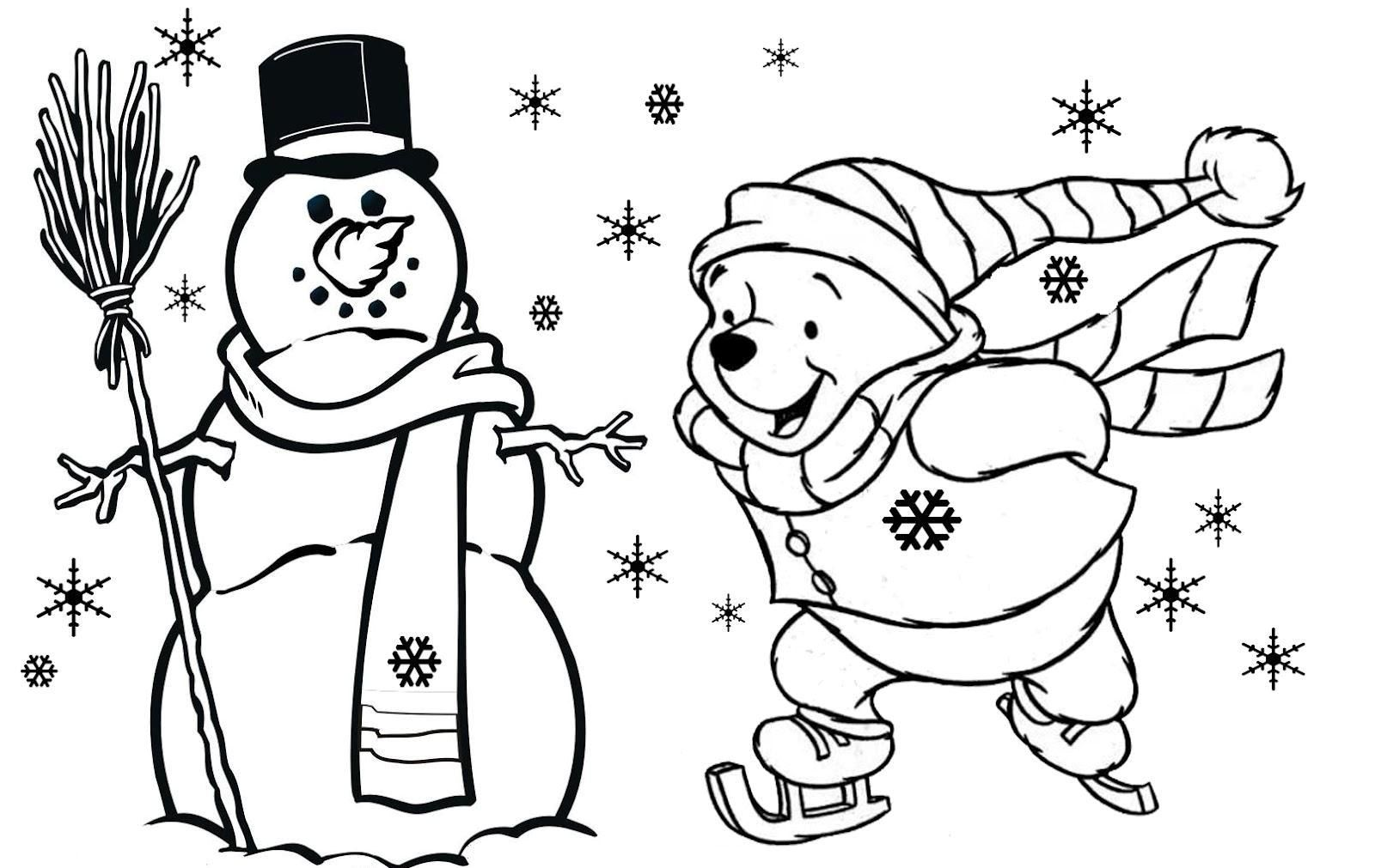 Disney Christmas Coloring Pages For Kids Printable
