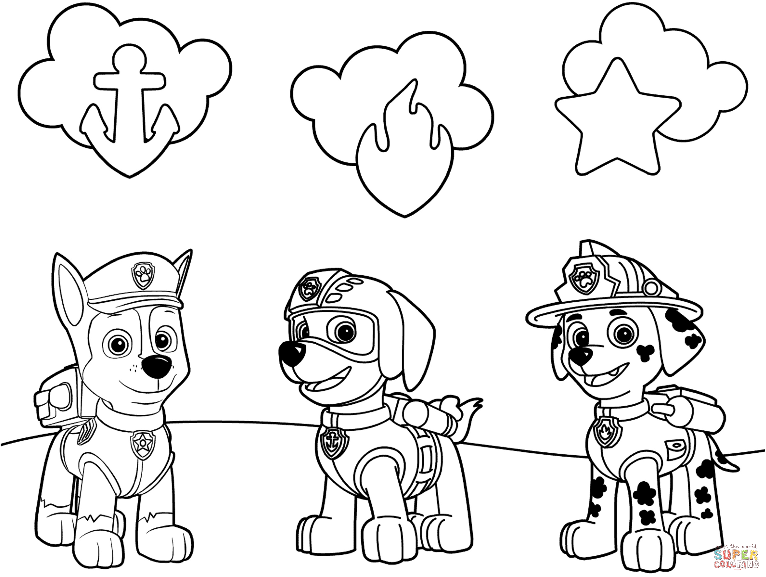 photograph regarding Free Printable Paw Patrol Badges named Paw Patrol Badges Coloring Webpage Cost-free Printable Coloring