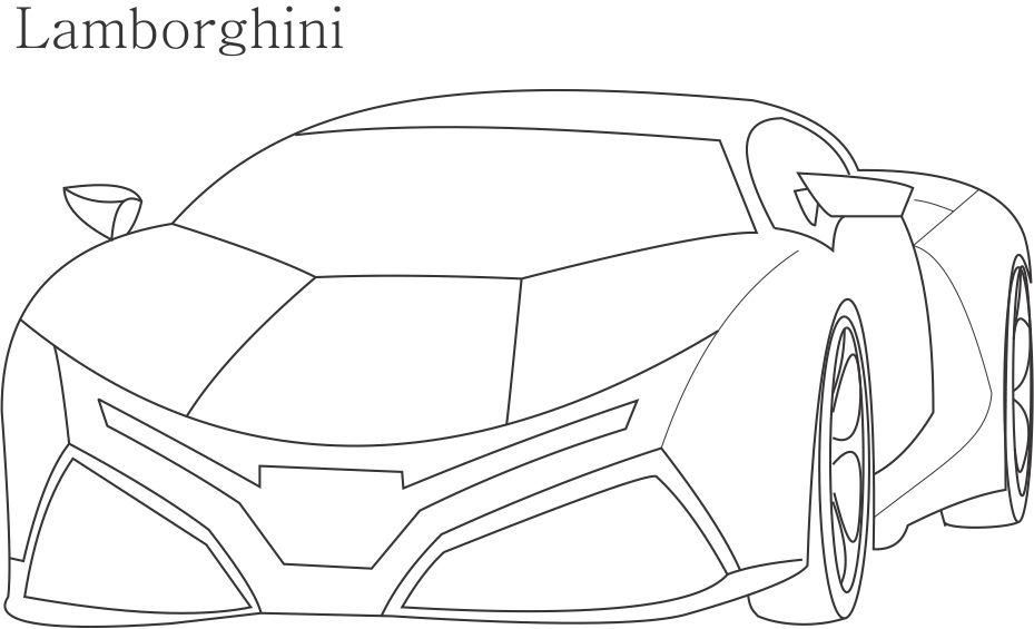 Coloring pages lamborghini cars coloring home for Lambo coloring pages