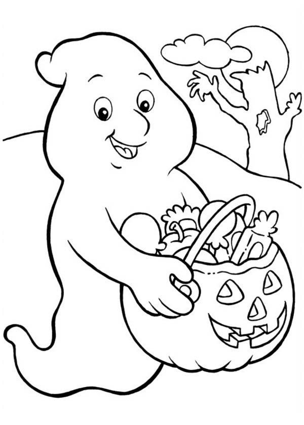halloween ghost coloring pages - ghost kids coloring pages coloring home