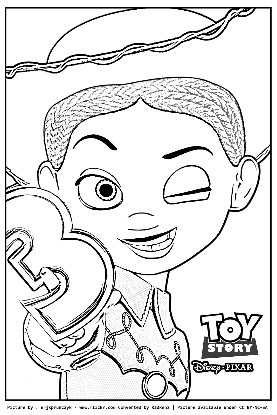 toy story 2 jessie coloring pages coloring home