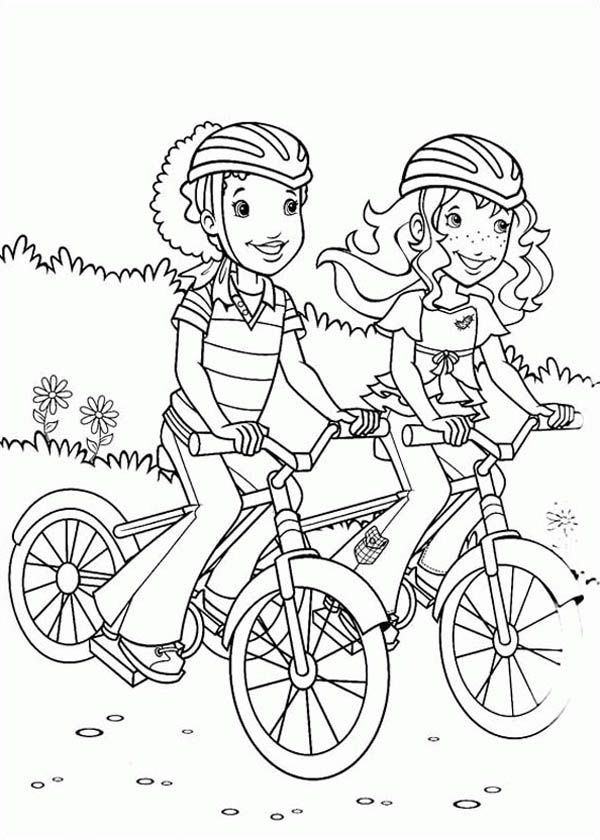 riding a bike coloring pages - photo#27