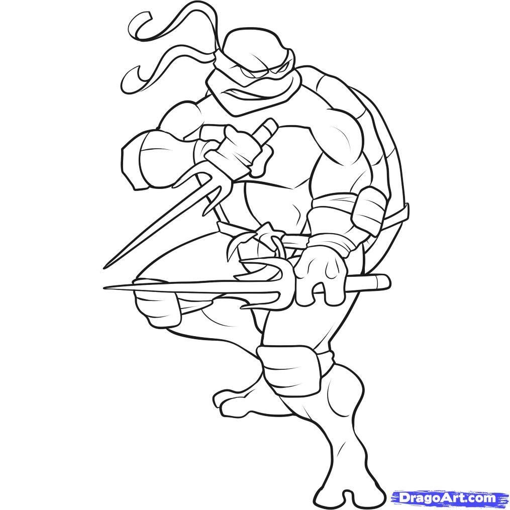 Free coloring pages ninja turtles - Ninja Turtle Coloring Page