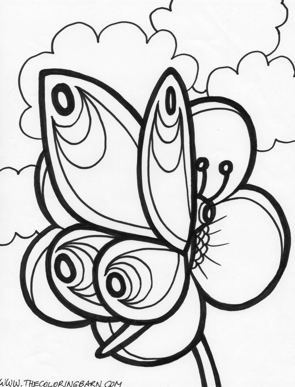 Butterfly Coloring Pages Pdf : Butterfly coloring pages valentines day