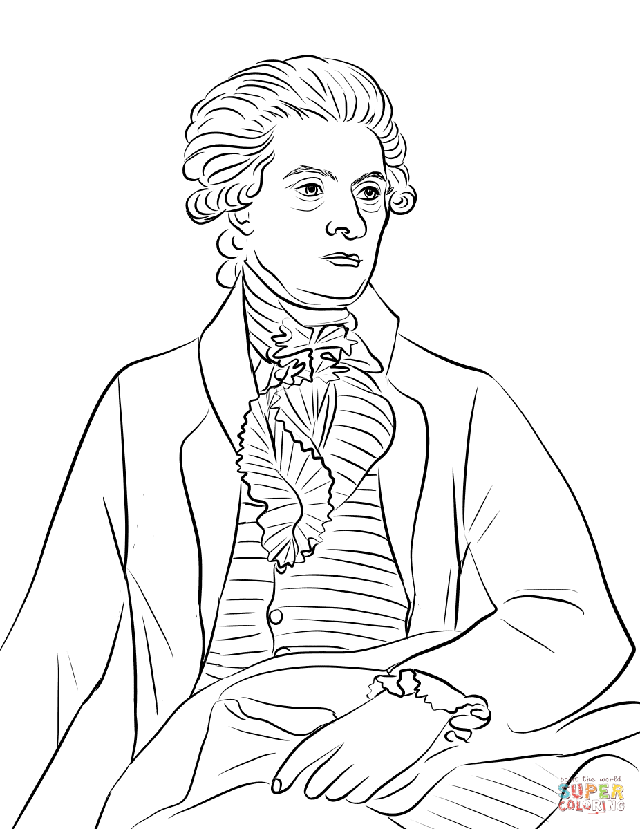 Thomas Jefferson coloring page | Free Printable Coloring Pages
