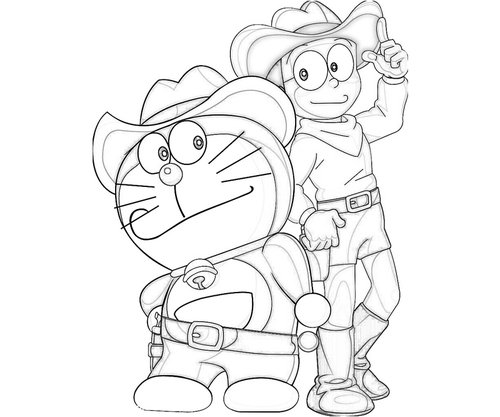 Nobita Coloring Pages Coloring Home