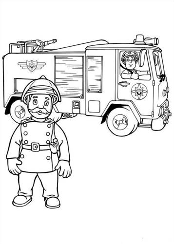 Kids-n-fun.com | 38 coloring pages of Fireman Sam