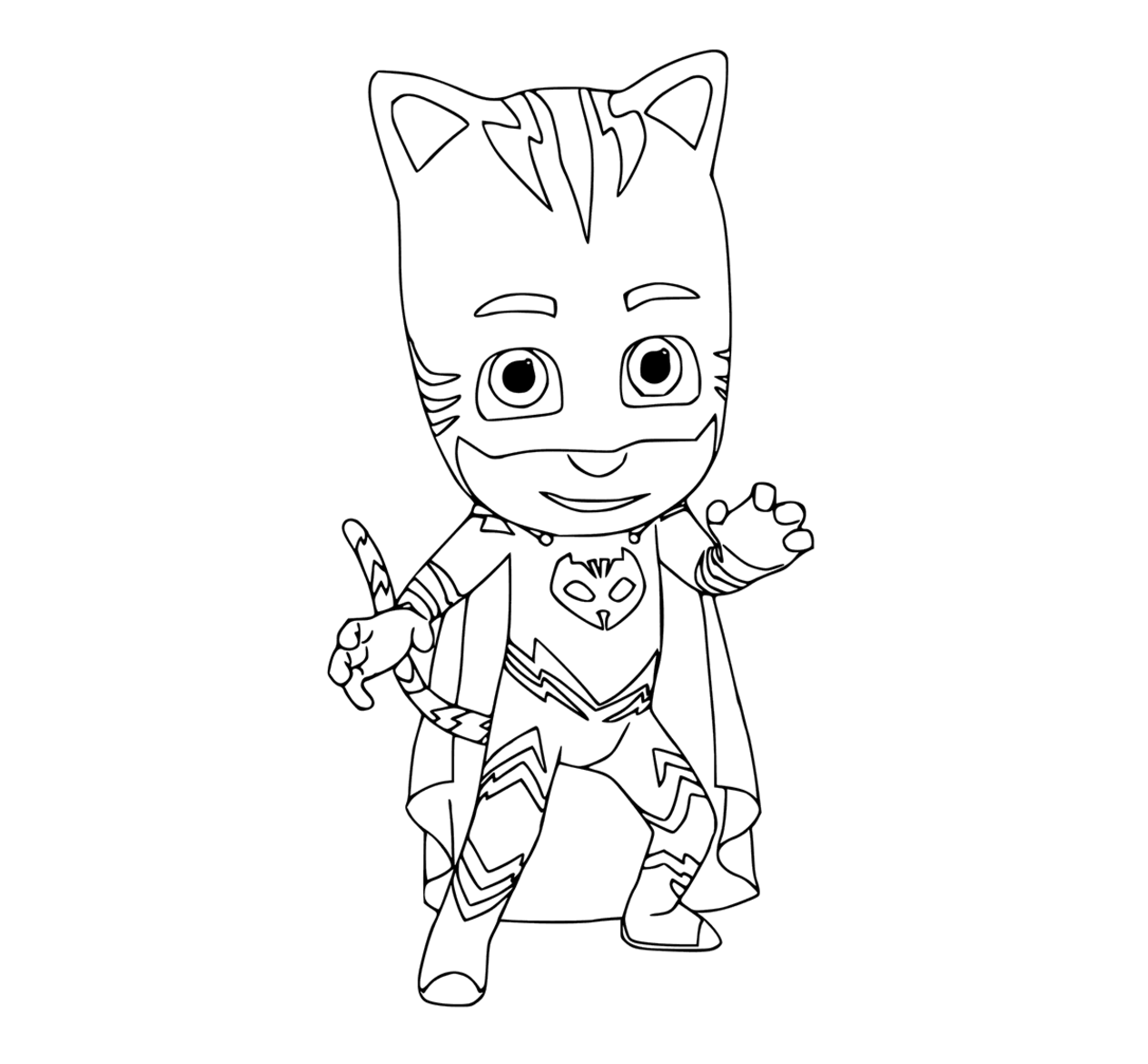 Cat boys Colouring Page