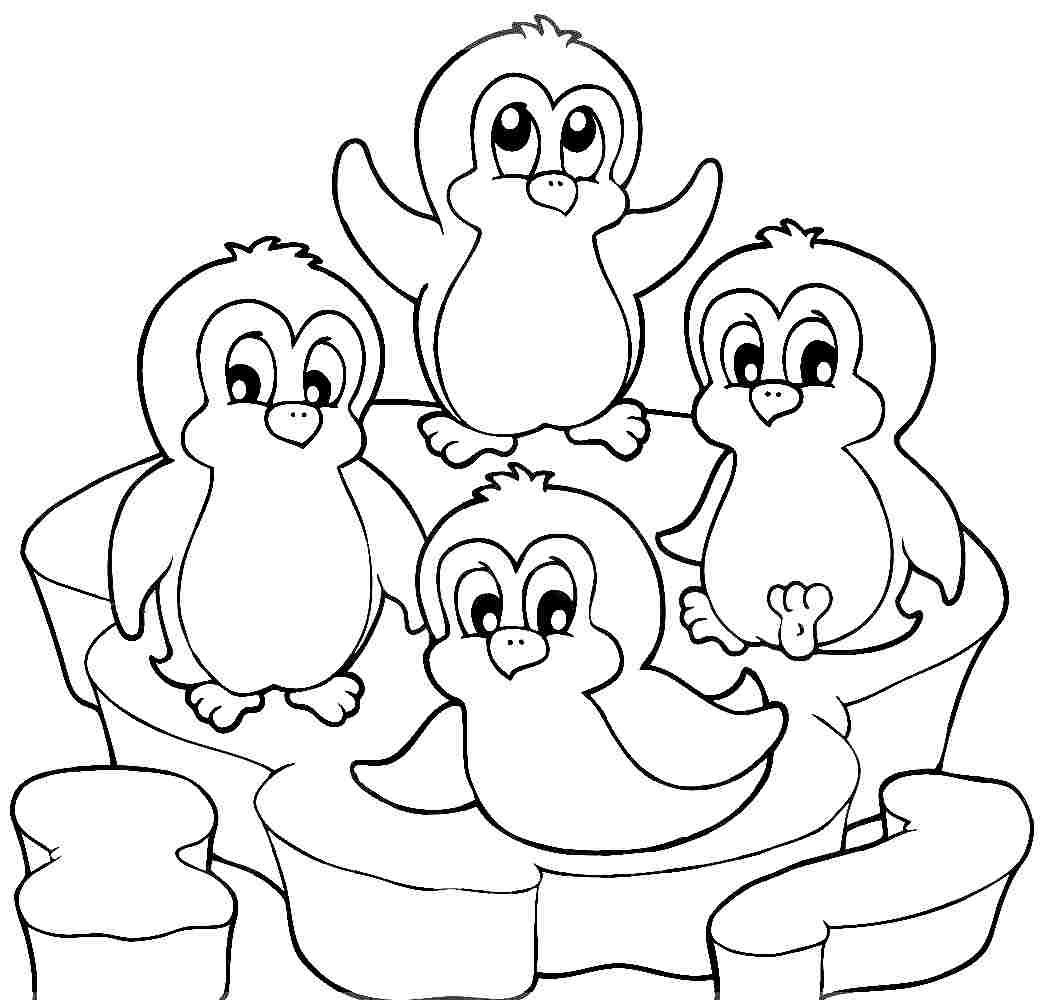 Cute Penguin Coloring Pages - Coloring Home