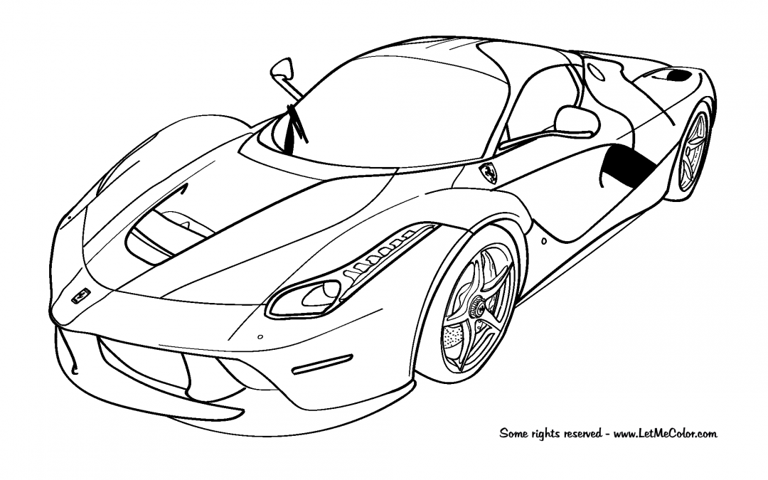 Ferrari Coloring Pages - Coloring Home