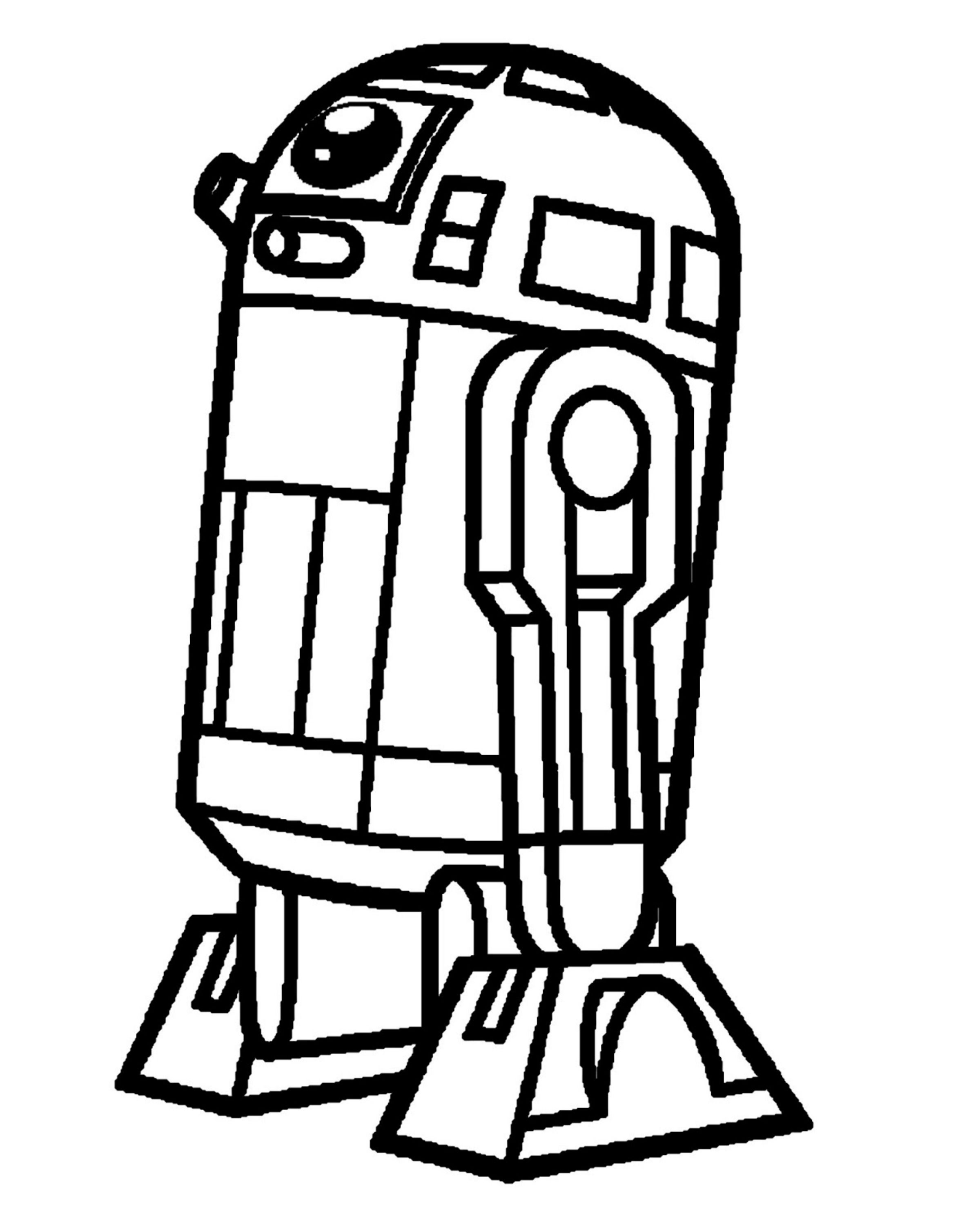 Clip Art R2d2 Coloring Pages Printable r2d2 coloring pages az valentines star wars how to
