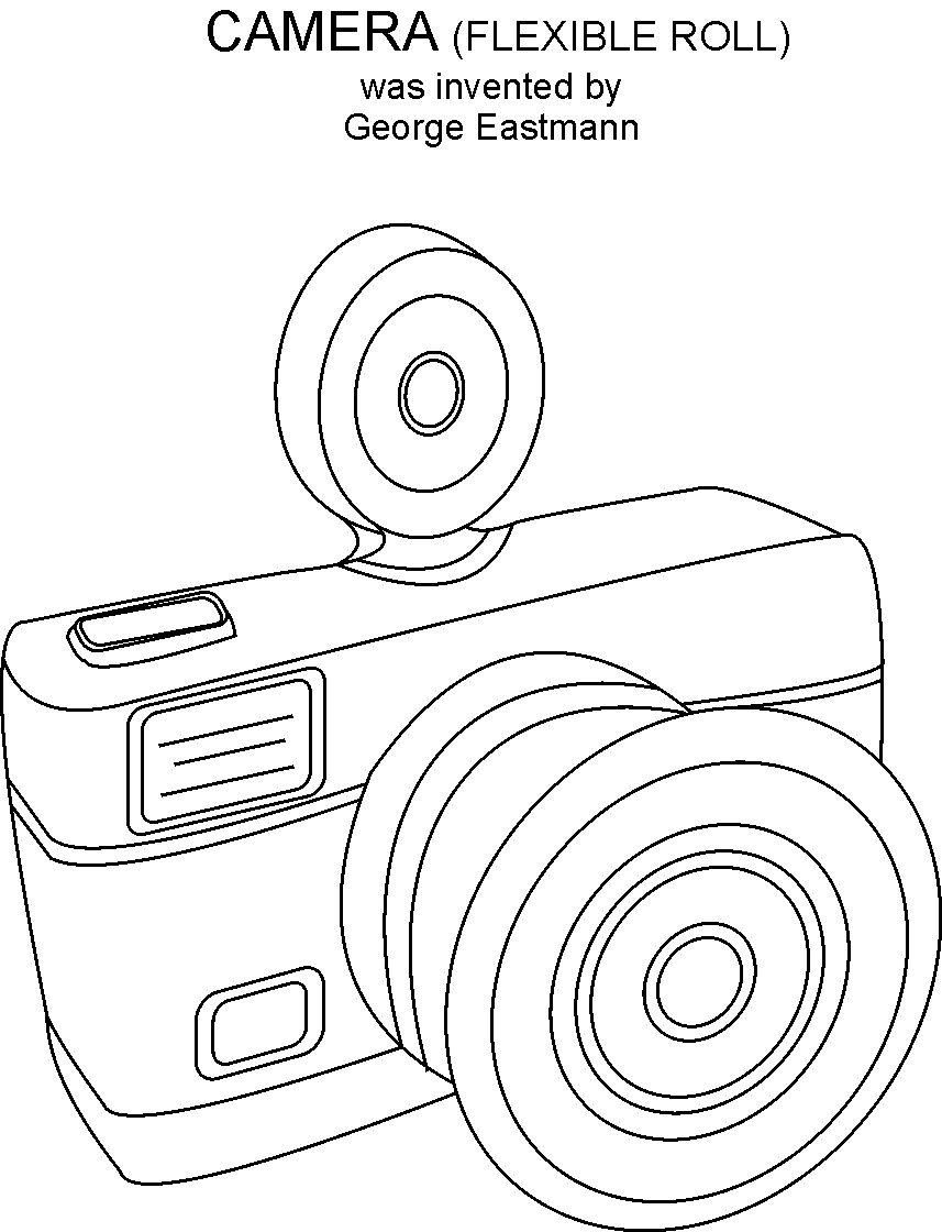 coloring pages to print camera - photo#7